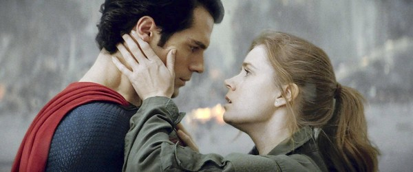 "Henry Cavill as Superman and Amy Adams as Lois Lane in ""Man of Steel."""