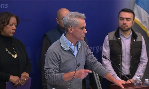 Emanuel speaks on weather conditions