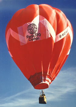 Up, Up, and Away in a beautiful balloon