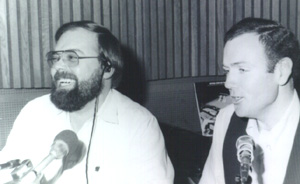 Bob Collins and Jim Loughman doing the old afternoon show
