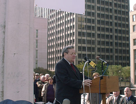 Chicago Alderman Burton Natarus sponsored the measure that led to the street being renamed in honor of Bob