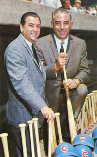 (L-R) Lou Boudreau and Vince Lloyd.