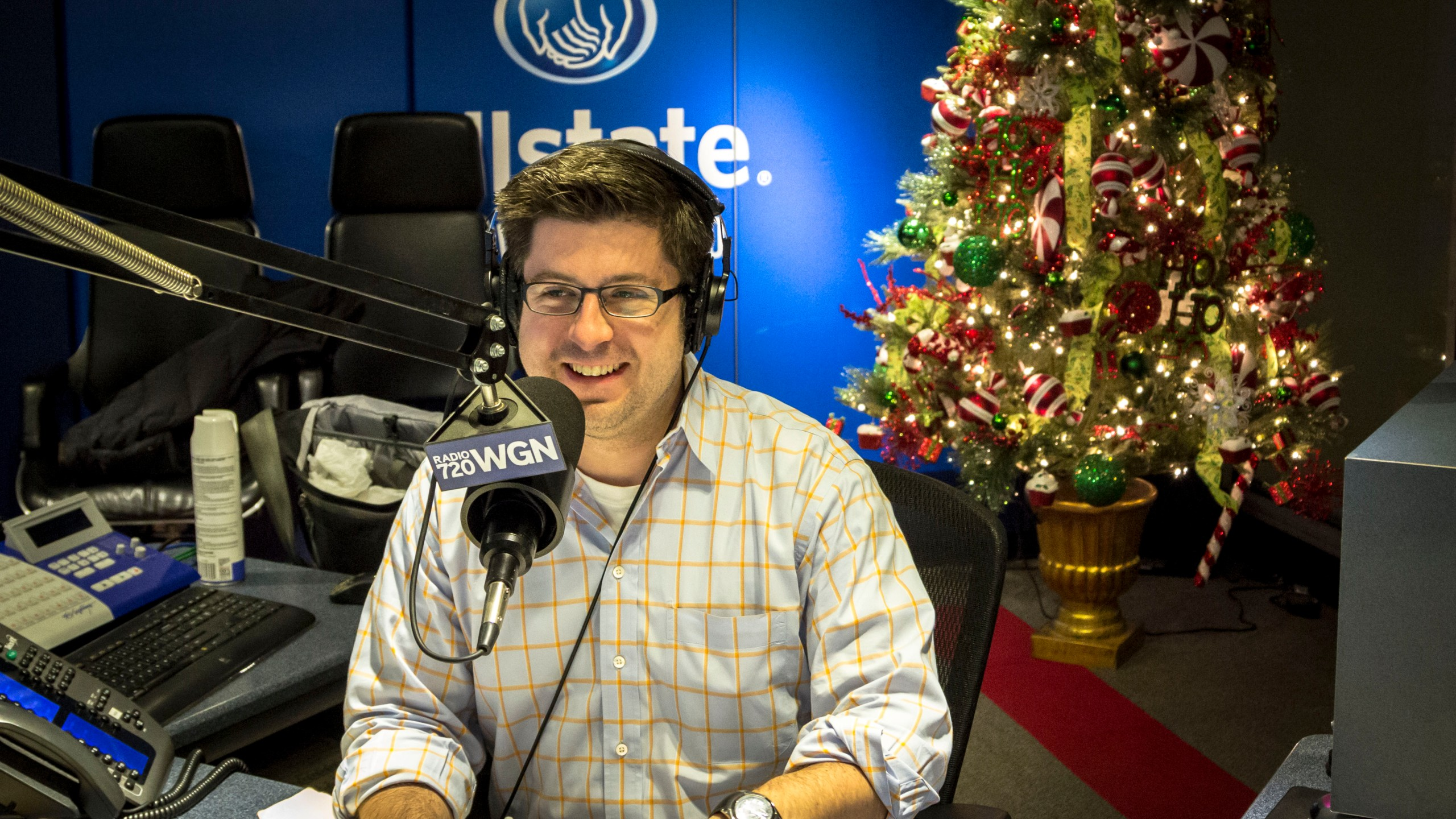 OTL host Mike Stephen always dresses a little nicer around the holidays. Nice shirt!
