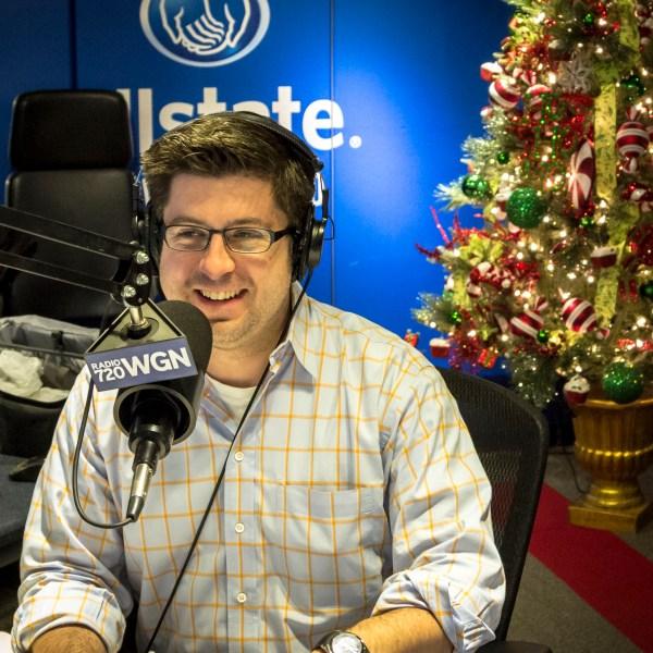 OTL host Mike Stephen always dresses a little nicer around the holidays. Nice shirt!