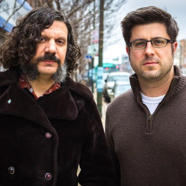 The Secret History of Chicago Music mastermind Plastic Crimewave (aka Steve Krakow) and OTL host Mike Stephen strike the most badass of badass poses on Western Avenue.