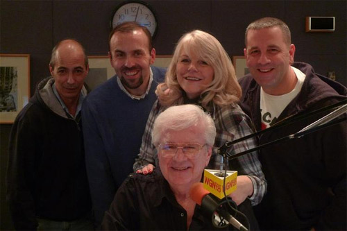 The cybersquad joined Him and Her every Website Wednesday Night talking tech news and answering your computer questions. Standing from left to right are: Mike DiMichele, Dr. Patrick Crispen, Johnnie and Nic Rotondo with Steve sitting in front