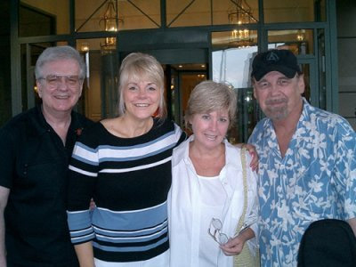 During their vacation, Steve and Johnnie had a chance to catch up with their old friends Deed and Duane Eddy