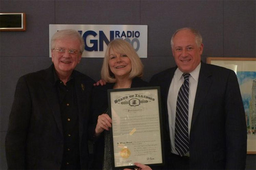 """Steve and Johnnie were deeply honored when Governor Pat Quinn proclaimed May 14th, 2010, as """"Steve and Johnnie Day"""" in Illinois!"""