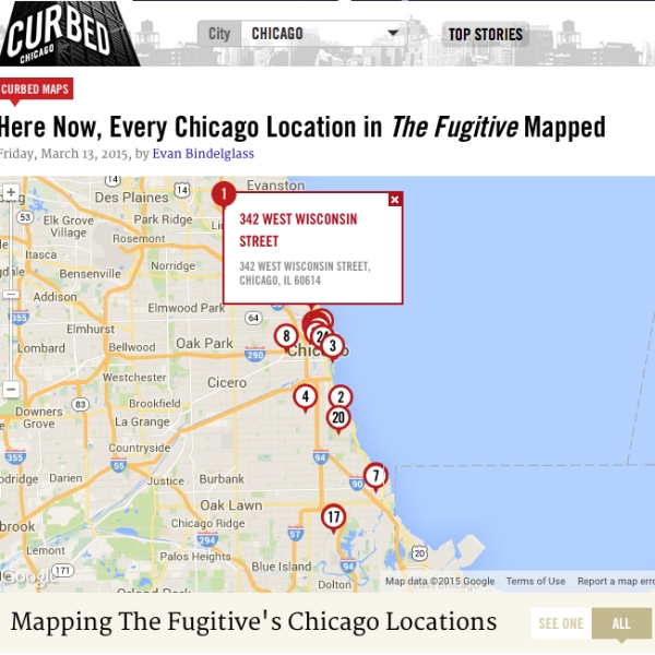 Evan Bindelglass mapped The Fugitive's Chicago sites for Curbed Chicago