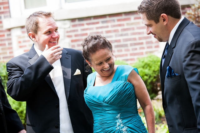 Overnight producer Dan Sugrue (left) with his mother, Carmen, and brother Roger on Dan's wedding day.