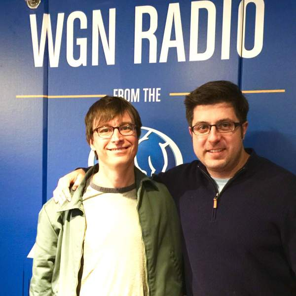 Grammy-nominated musician Justin Roberts poses with Mike Stephen after rocking the soundtrack for OTL #472.