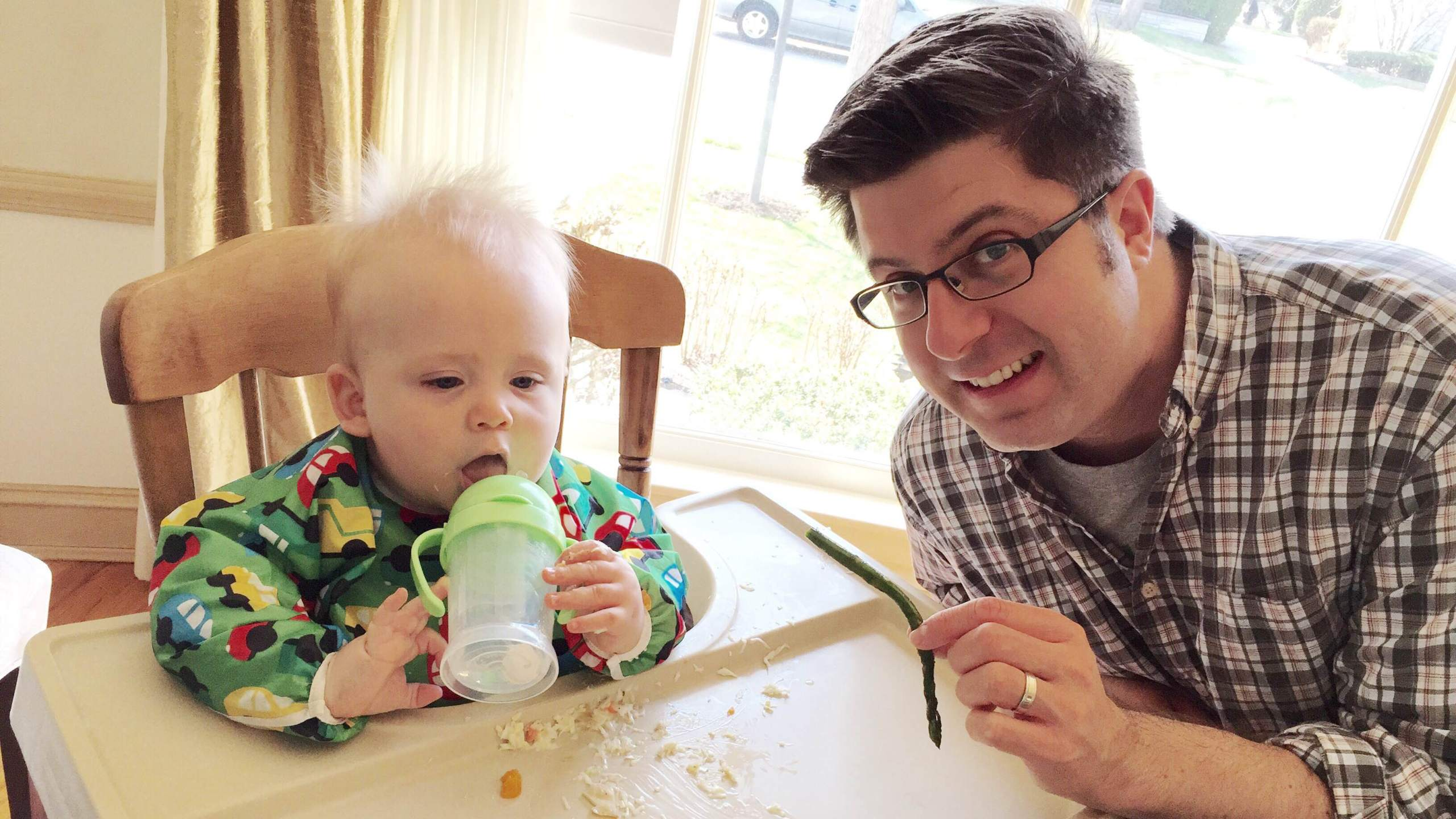 OTL host Mike Stephen III passes his love of vegetables along to his son Mike Stephen IV.