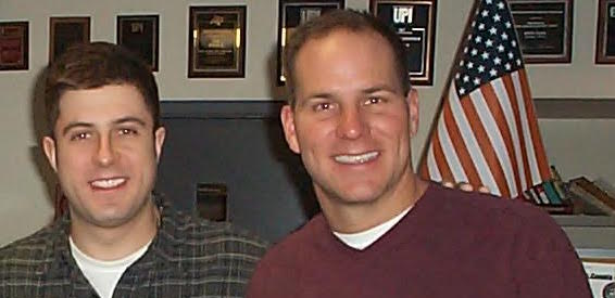 OTL host Mike Stephen and multimedia star Lou Manfredini go way back! [pictured in the old WGN Radio newsroom circa 2004]