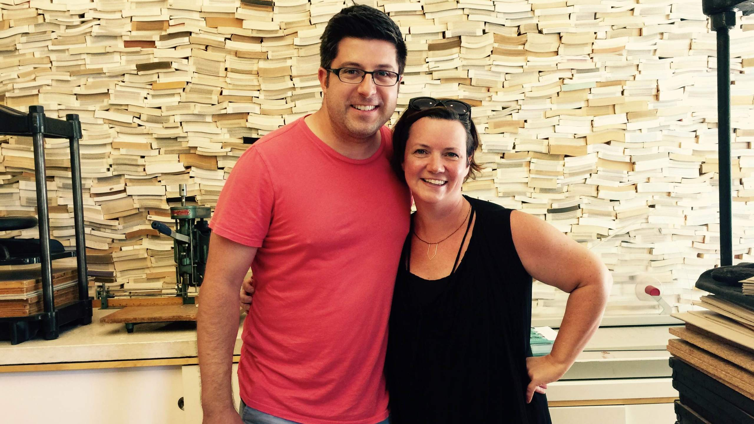 OTL host Mike Stephen visits with BookClub Chicago co-owner Amanda Love at her Wicker Park studio.