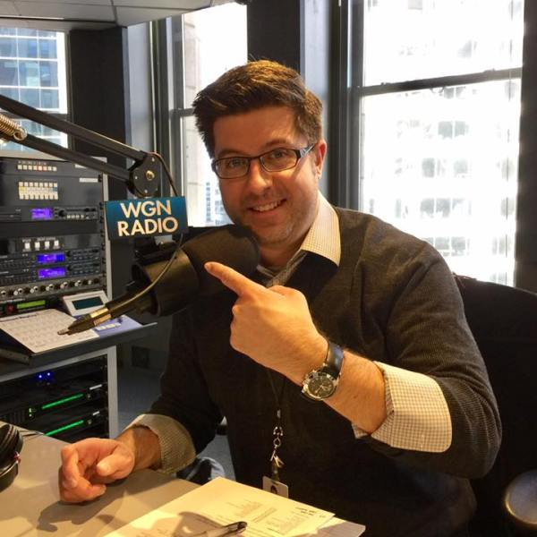 Mike Stephen always wears a collared shirt when he hosts a weekday daytime shift at WGN Radio!