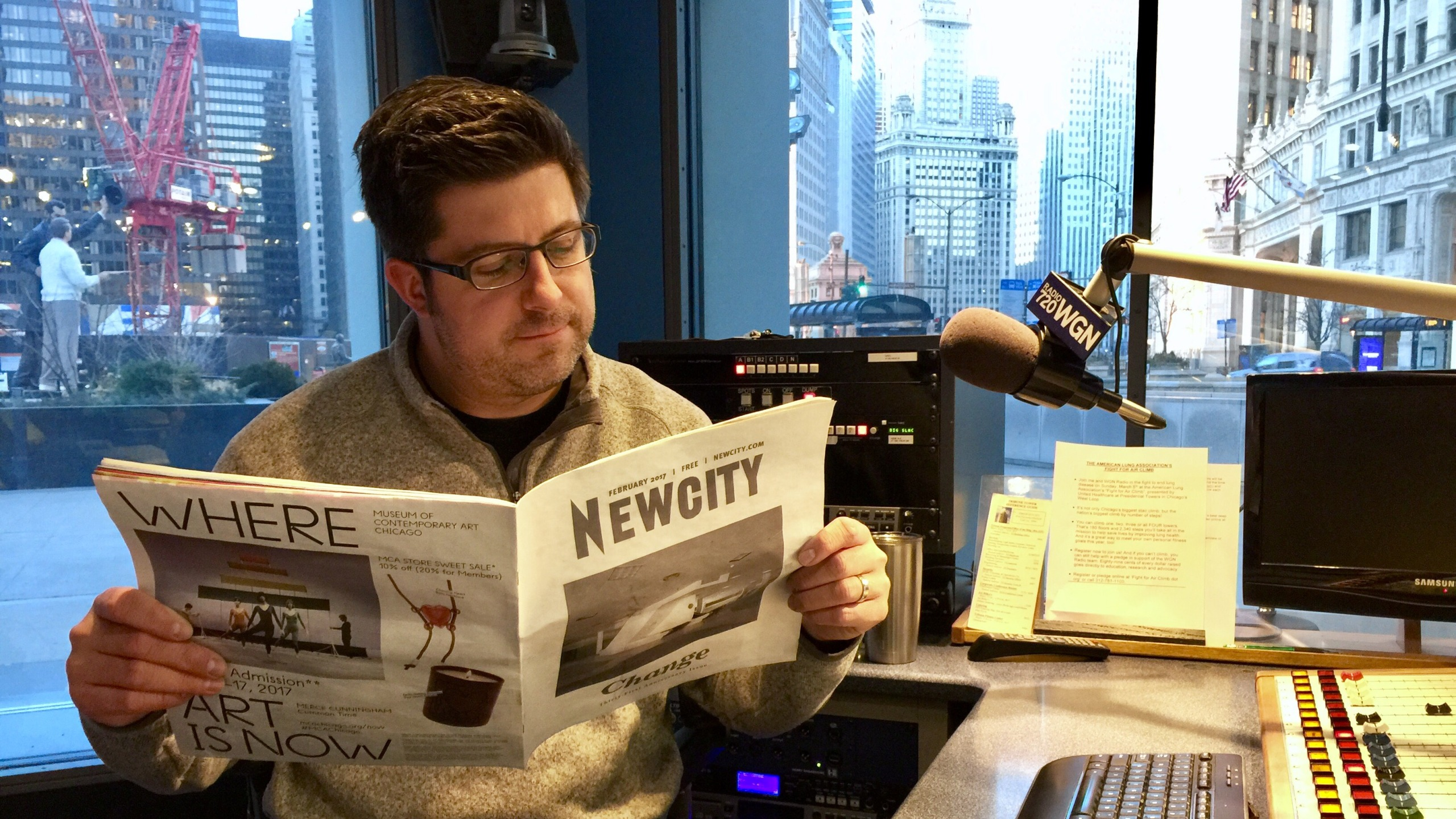 OTL host Mike Stephen reads the 31st anniversary issue of Newcity -- the last weekly edition of the venerable Chicago newspaper.