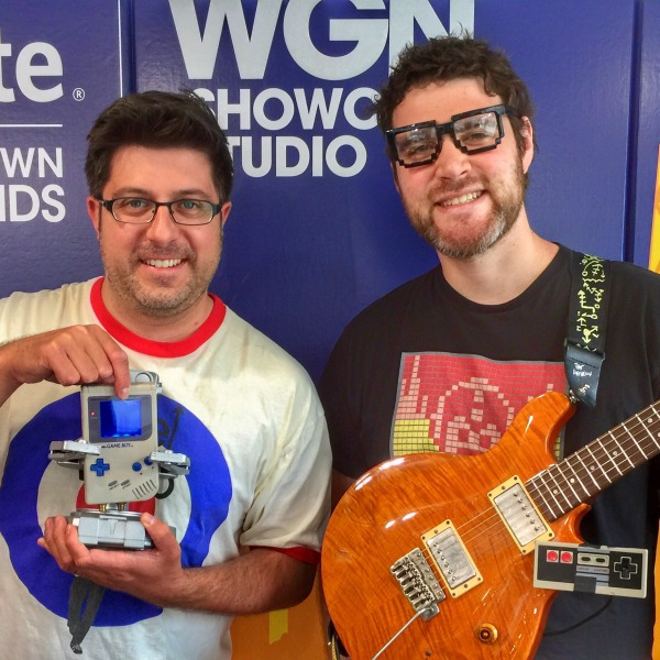 Mike and R.O.B. (obscured by his Game Boy) of Boy Meets Robot stopped by OTL #556 to play some funny JAMZ from their new record The Robots Will Kill Us All.