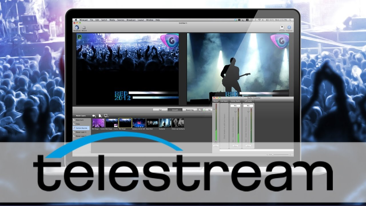 Video Streaming, WireCast, Telestream, Mason Vera Paine, Tom Phren, Game Show, New Blue FX, Iphone, Apple, Twitter, Facebook, Youtube