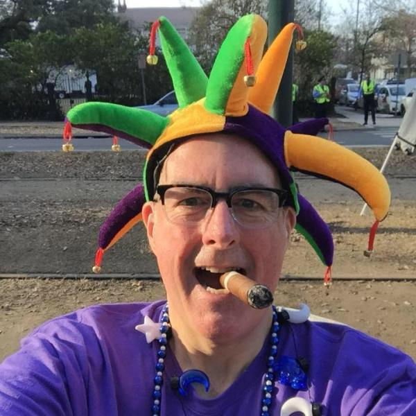 Brian Noonan in New Orleans for Mardi Gras 2019