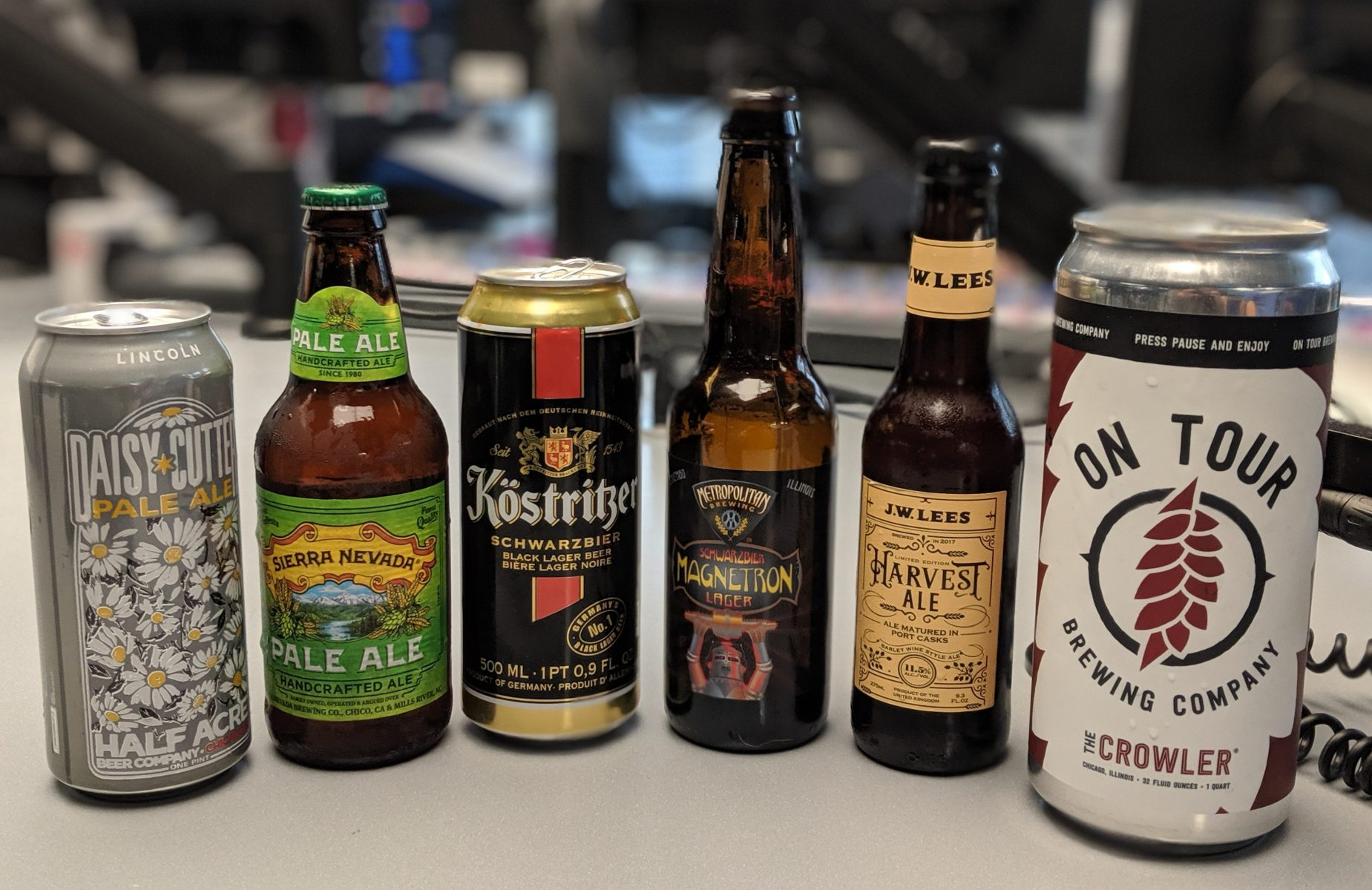 "A variety of beers in-studio for ""At the Breweries"" with Brian Noonan"