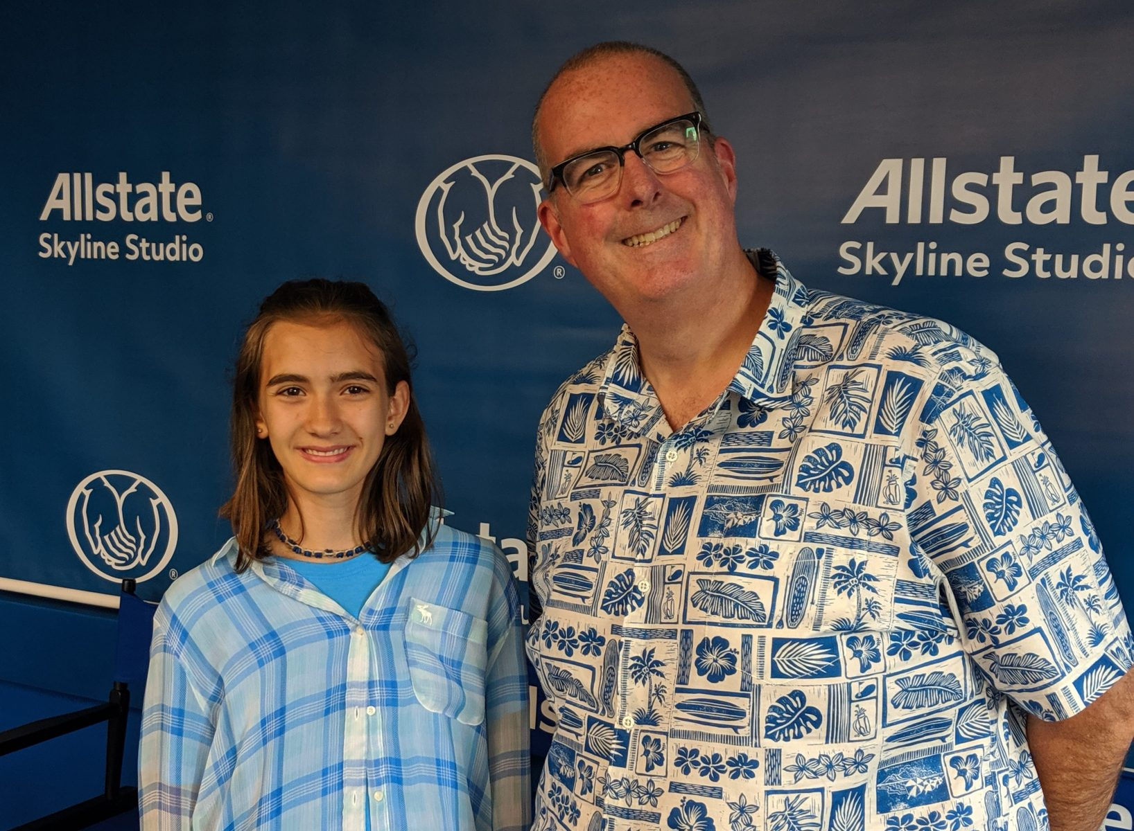 Illinois' 3M Young Scientist Challenge State Merit Winner Emilia Dobek (left) and WGN Radio host Brian Noonan (right)