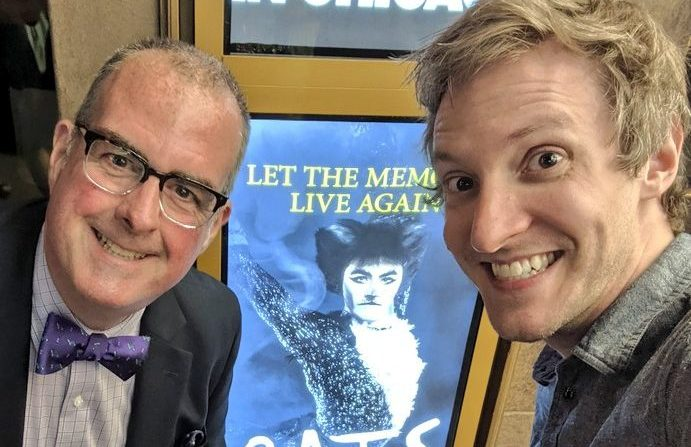"Brian Noonan and Cody Gough see ""Cats"" at the James M. Nederlander Theatre"