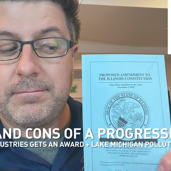Mike Stephen and the pamphlet that explains the proposed progressive income tax.