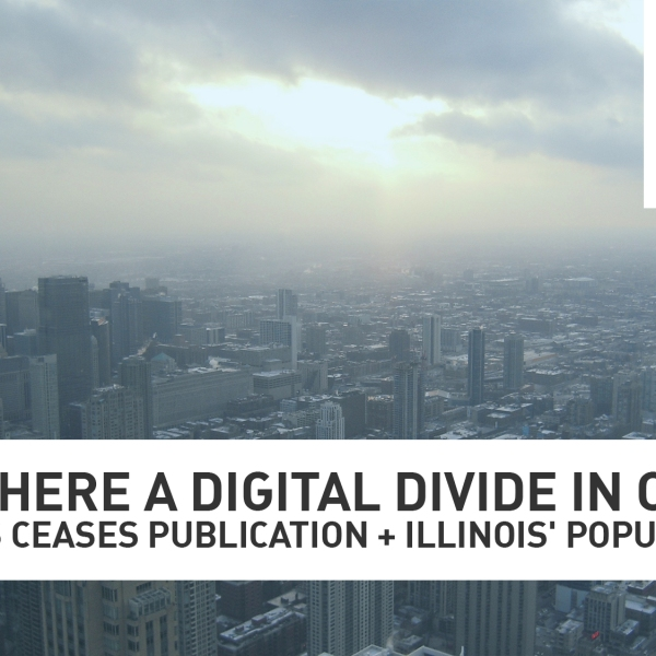 Why is there a digital divide in Chicago?