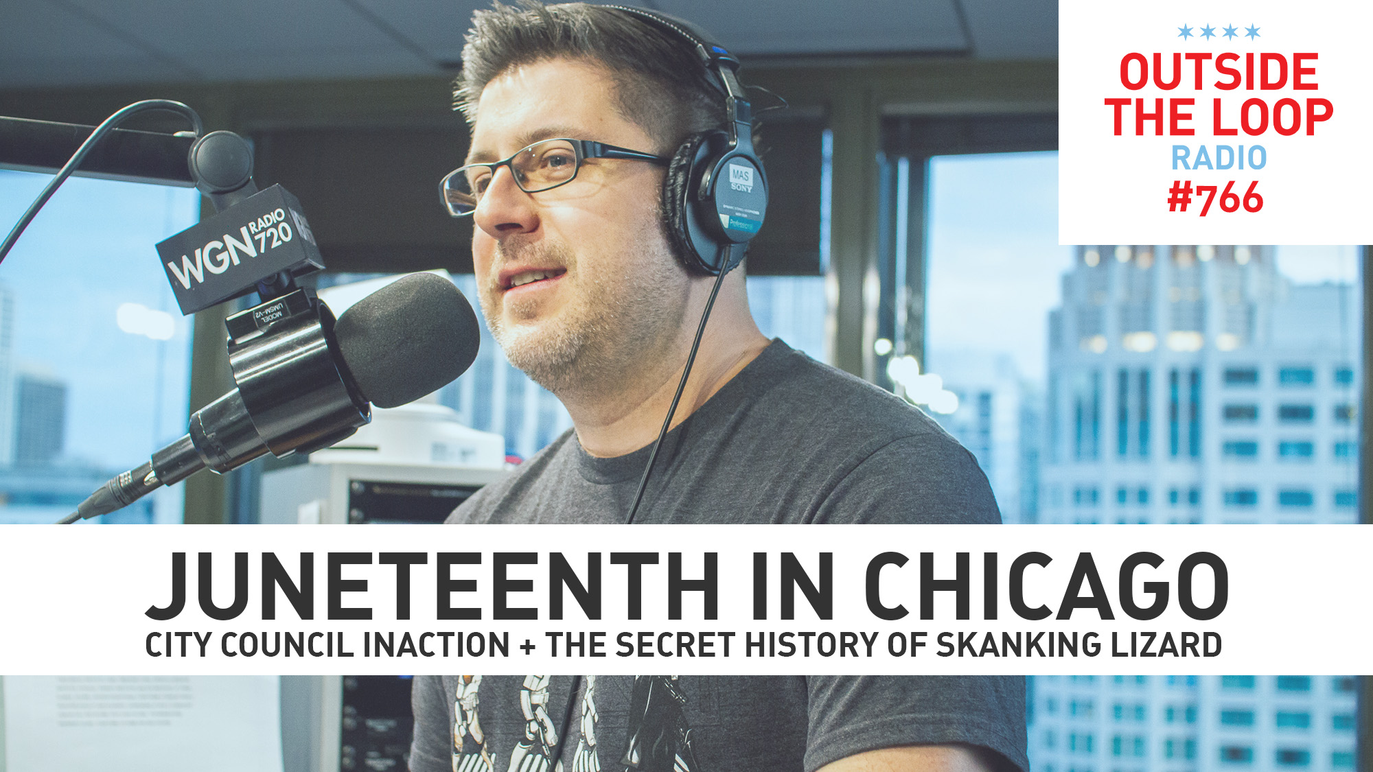 OTL host Mike Stephen. (Photo credit: Collin Seaman/WGN Radio)