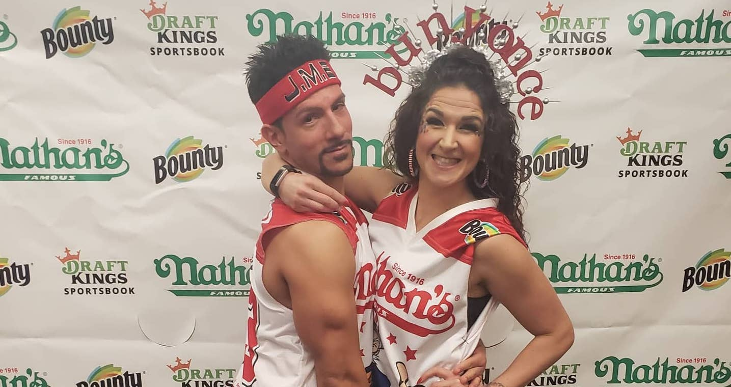 Competitive eating couple Juan and Sarah Rodriguez (courtesy Sarah Rodriguez)